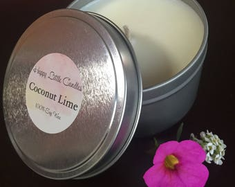 Soy Candle Handmade - Coconut Lime