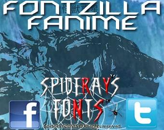 FONTZILLA FANIME Commercial Font