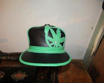 Cannabis leaf hat