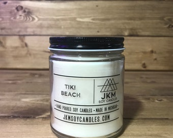 Tiki Beach 9oz Soy Candle - Classic Collection