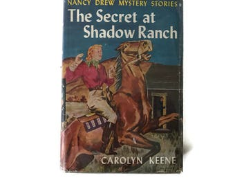 Vintage Nancy Drew 1931 Mystery Book The Secret at Shadow Ranch by Carolyn Keene #5 Vintage Book Detective Story Juvenile Reading