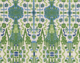 SALE,Bombay Kelly White ,Fabric By The Yard, Lacefield Fabrics