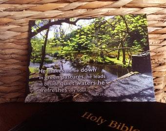 Bible Scripture Verse - Postcard - Psalm 23 v2