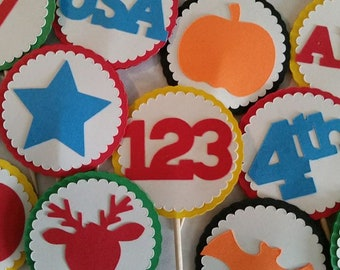 Holiday Cupcake Toppers (Sets of 12)