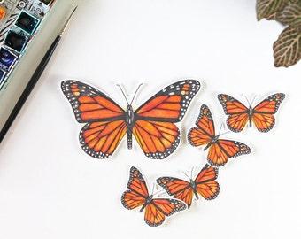Vinyl Stickers, Monarch Butterfly, Monarch, butterfly, butterfly art, vinyl, vinyl stickers, laptop sticker, bumper sticker, yeti, decal