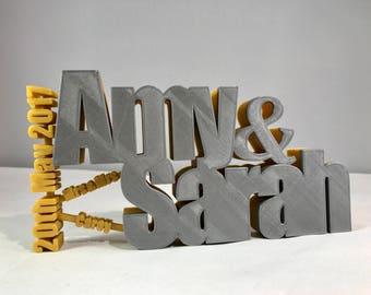 Wedding Gift - 3D Printed - Memory Freestanding Plaques - Wedding - Gifts for Couples - Wedding Gifts - Bride/Groom