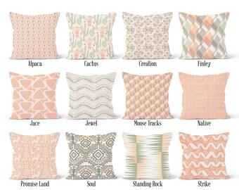 Pink Pillow Cover, Decorative Throw Pillow Covers, Euro Pillow Sham 16 x 16, 18 x 18, 20 x 20, 22 x 22, 24 x 24, 26 x 26