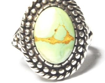 Beautiful Carol Felley Sterling Silver Turquoise Ring 21mm Size 7