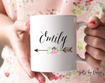 Gift ideas for her, Shower gift, personalized name gift coffee mug, bridemaid gift, custom name mug, bridesmaid custom gift, custom gift 134