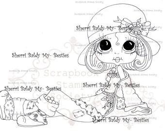 INSTANT DOWNLOAD Digital Digi Stamps Big Eye Big Head Dolls Digi  IMG773 By Sherri Baldy
