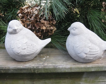 Concrete PAIR of MORNING DOVES