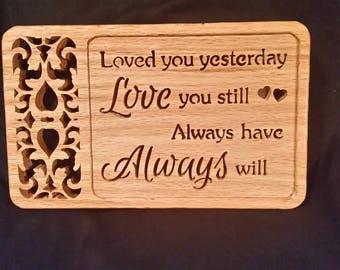 Love Always Wood Plaque