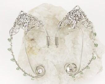 Elven Ear Cuffs - Tree of Life Ear Cuffs - Elf Ears - Forest Fairy Ears - Fairy Ear Cuffs - Tree of Life Cuffs -  Elven Ears - Nature Elf