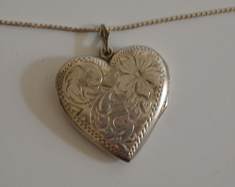 Sterling Heart Pendant Locket with chain