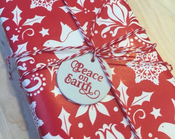 Peace on Earth holiday gift tag/tree ornament