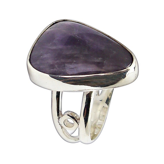 Amethyst and Sterling Silver Ring, Size 6  r6amte2504