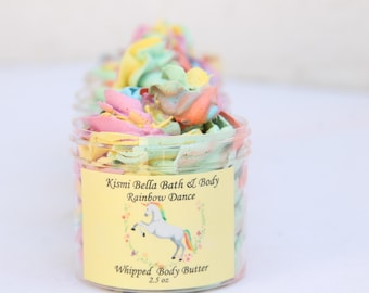 Whipped Body Body, Unicorn Body Butter, Colored Body Butter, Rainbow Dance Body Butter, Gifts For Her, Birthday Gifts, Kids Party Favors