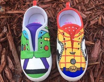 toy story themed custom shoes