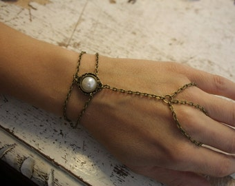 Slave - ring bracelet- statement jewelry