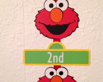 Elmo Birthday Party Sign, Personalized, Elmo party, Sesame Street party