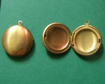 golden charms, round that opens 20mm in diameter, jewelry creation, set of 2