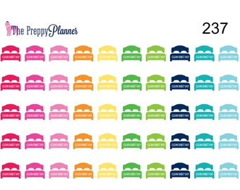 CLEAN SHEET Day Planner Stickers For all Planner Types #237