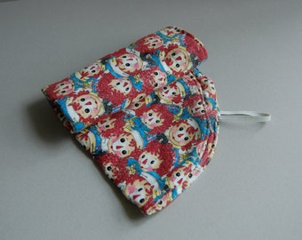 Raggedy Ann & Andy Flannel Changing Pad - Ready to Ship