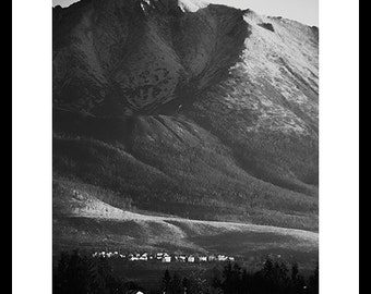 Black and white photography-Mountains-Landscape-Original photography-Nature photography-Large wall art