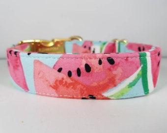 Watermelon Dog Collar - Summer Dog Collar - Pink Dog Collar - Juicy Melon Dog Collar