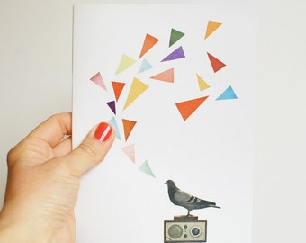 A5 Notebook, Honeycomb Geometric Journal, 100% Recycled - Pigeon Radio