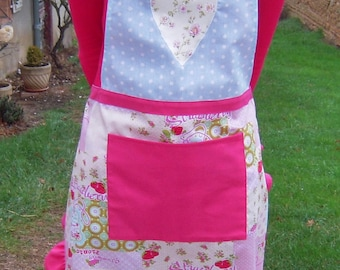 Flying with heart appliqué apron