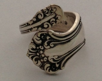 Spoon Ring Avon 1901 Size 4 to 7 Choose Your Size Vintage Silverplate Krizsilver