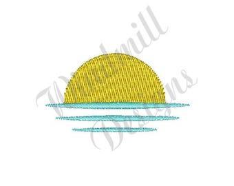 Sunset - Machine Embroidery Design