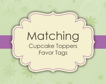 Matching Cupcake Toppers - Favor Tags