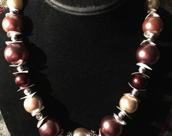 "18"" Shades of brown necklace"