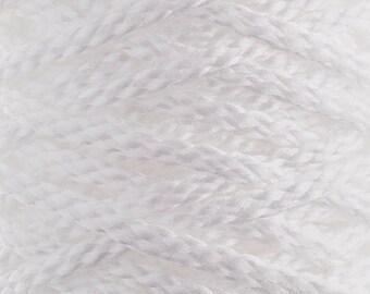 10 Yards Braided Macrame Cord - White