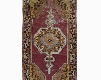 Turkish Oushak Rug Antique Rug FREE SHIPPING! / 3'7''x6'7''ft