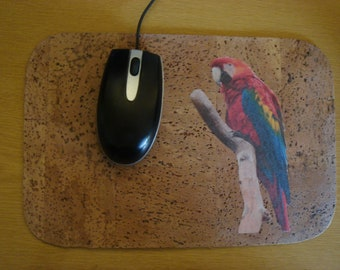 Mousepad made of natural cork coco