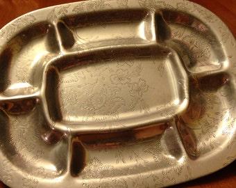 Mid Century Forman Family Aluminum Sectioned Tray