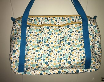 Customizable bubble pattern quilted fabric diaper bag