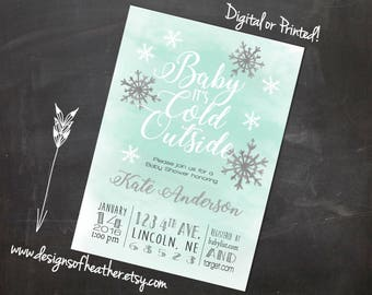 Baby It's Cold Outside Digital Baby Shower Invitation