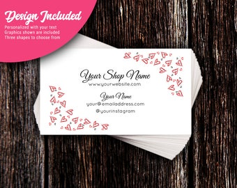 Business Cards - Custom Business Cards - Personalized Business Cards - Mommy Calling Cards - Scribble Hearts