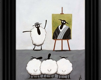 """Leonardo Baa Vinci"" (Ready Framed) Original"