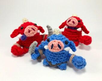 Crocheted Bokoblin Finger Puppet from The Legend of Zelda