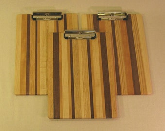 Wooden Clip Board - Multiple Woods