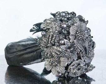Gothic Bouquet - Alternative Bouquet - Broach Bouquet - Brooch Bouquet - Crystal Bouquet - Wedding Bouquet - Bridal Bouquet - Deposit