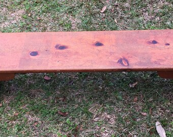 Wood Bench Pine plank bench antique