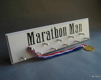 "White Sport Medal display ""Marathon Man"""