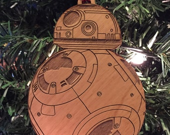 Star Wars BB-8 Droid Wooden Ornament