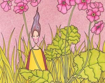 Secret in the garden - Art Print